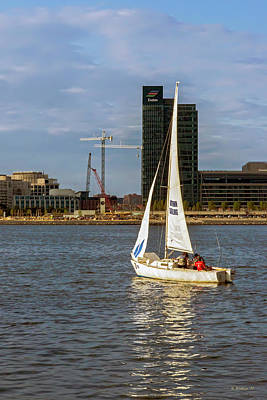 Photograph - Sailing Downtown by Brian Wallace