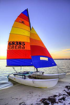 Navarre Beach Photograph - Sailing Florida by JC Findley