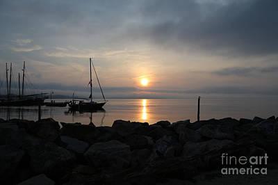 Photograph - Sailing From Yorktown Marina by Lara Morrison