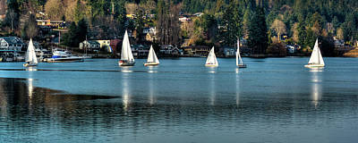 Photograph - Sailing Gig Harbor by David Patterson