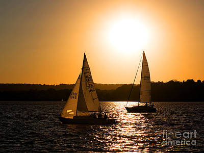 Photograph - Sailing Home At Twilight by Barbara McMahon