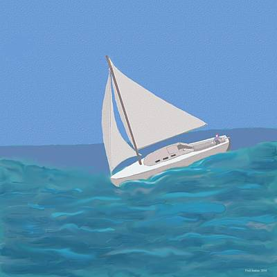 Windblown Painting - Sailing Home by Fred Jinkins