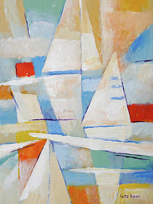 Modern Abstract Painting - Sailing Impression Painting by Lutz Baar