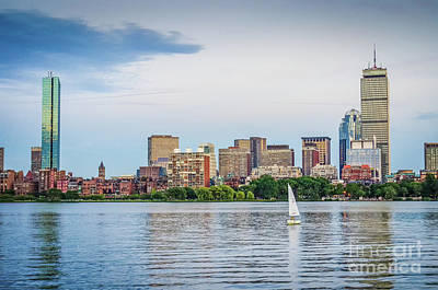 Sailing In Back Bay Art Print by Mike Ste Marie