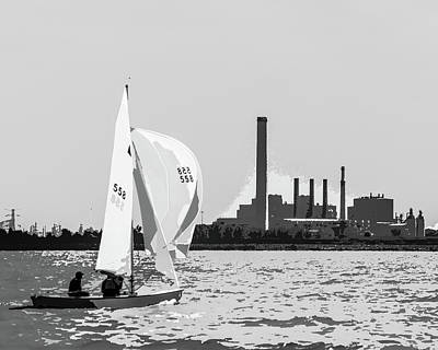 Photograph - Sailing In Black And White by Michael Arend