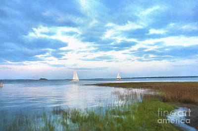 Photograph - Sailing In Charleston Bay by David Arment