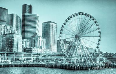 Photograph - Sailing In Elliott Bay, Seattle, Washington by Deborah Klubertanz