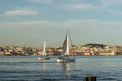 Photograph - Sailing In Lisbon Portugal by Georgia Mizuleva