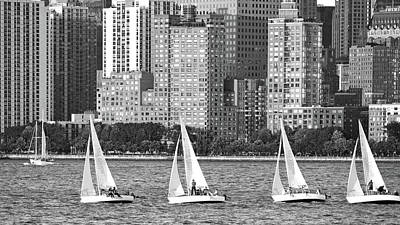 Photograph - Sailing In New York Harbor No. 3-1 by Sandy Taylor