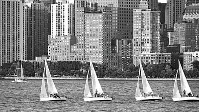Sailboats Photograph - Sailing In New York Harbor No. 3-1 by Sandy Taylor