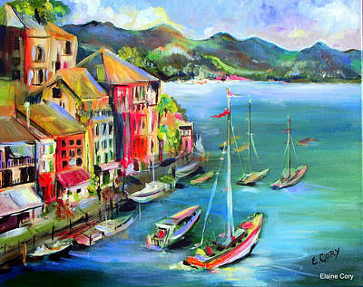 Painting - Sailing In Paradise by Elaine Cory