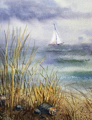 Painting - Sailing In Rough Seas by Irina Sztukowski