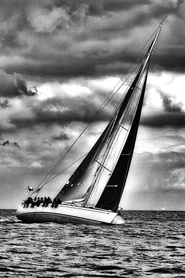 Audrey Hepburn - Sailing In Stormy Weather by Sascha Richartz