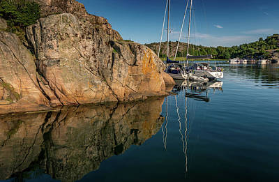 Photograph - Sailing In Sweden by Martina Thompson