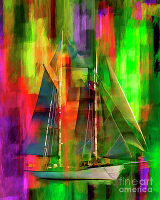 Digital Art - Sailing In The Abstract 2016 by Kathryn Strick