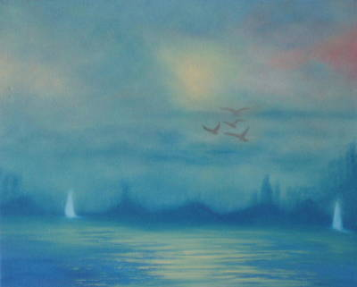 Sailing In The Fog Original by Fiona Dinali