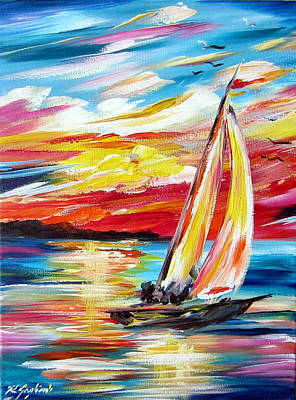 Painting - Sailing In The Indian Ocean Summer  by Roberto Gagliardi
