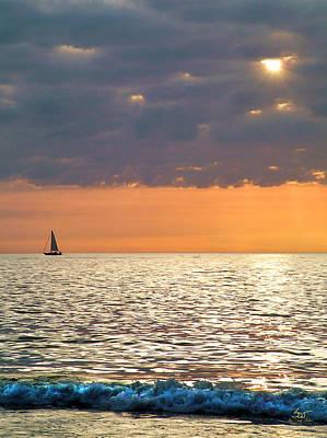 Sailing In The Sun Art Print