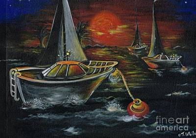 Painting - Sailing In To Sunset by Teresa White