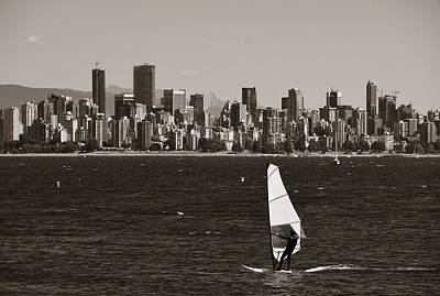 Photograph - Sailing In Vancouver by Songquan Deng
