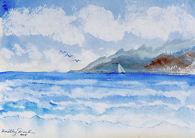 Painting - Sailing Into Moorea by Dorothy Darden