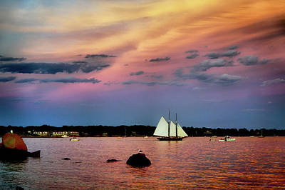 Photograph - Sailing Into Sunset by Lilia D