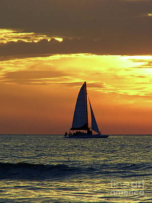 Photograph - Sailing Into The Sunset by D Hackett