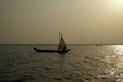 Sailing Into The Sunset Art Print by David Shaffer