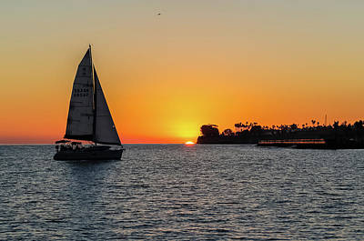Photograph - Sailing Into The Sunset by Kathleen McGinley