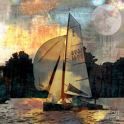 Sailing Into The Sunset Art Print by LemonArt Photography