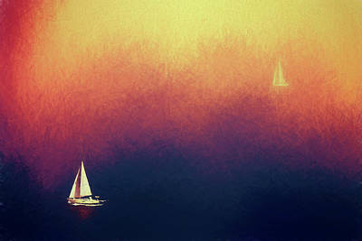 Photograph - Sailing by James Bethanis