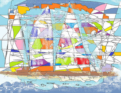 Digital Art - Sailing by Jim Taylor