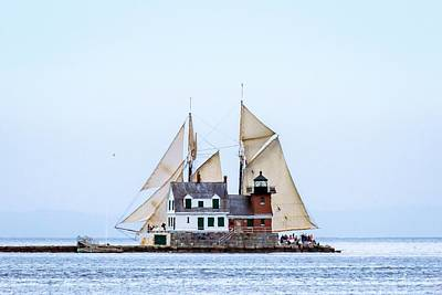 Penobscot Bay Photograph - Sailing Lighthouse by Tim Sullivan