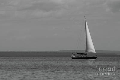 Photograph - Sailing Mackinac Grayscale by Jennifer White