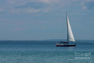 Photograph - Sailing Mackinac by Jennifer White
