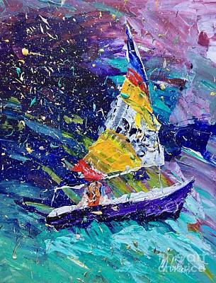 I Am Sailing Painting - Sailing Magic by Mary Cullen