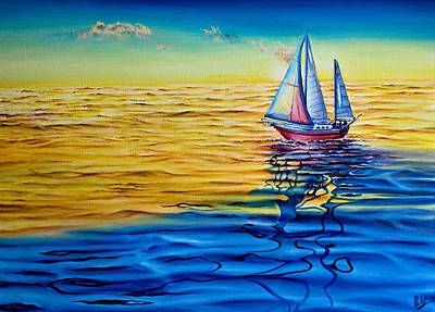 Painting - Sailing  by Michel Angelo Rossi