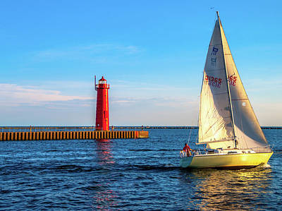 Photograph - Sailing Michigan by Optical Playground By MP Ray