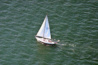 Photograph - Sailing Narragansett Bay 2 by Duncan Pearson