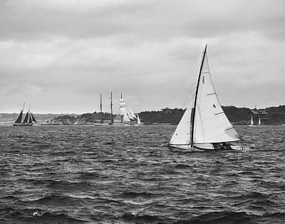 Photograph - Sailing Newport by Eduard Moldoveanu