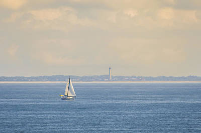Sailboat Photograph - Sailing Off Cape May by Bill Cannon