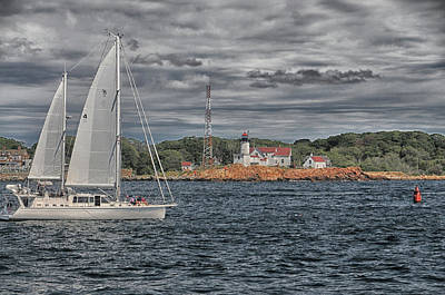 Photograph - Sailing Off Eastern Point by Mike Martin