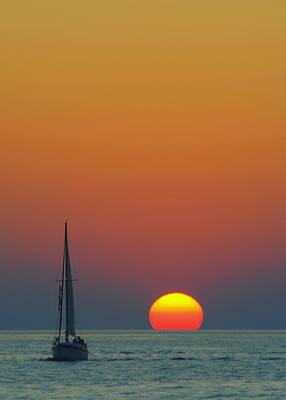 Classical Masterpiece Still Life Paintings - Sailing off into the Sunset by Frozen in Time Fine Art Photography