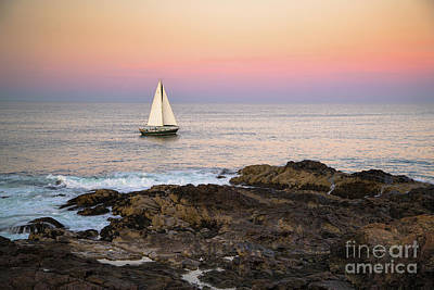 Maine Landscape Photograph - Sailing Off Marginal Way Ogunquit by Benjamin Williamson