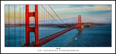 Golden Gate Photograph - Sailing Off Poster Print by Az Jackson