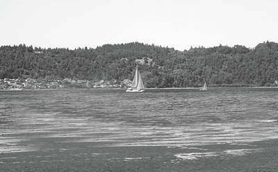 Photograph - Sailing Off The Point by Gerald Mitchell