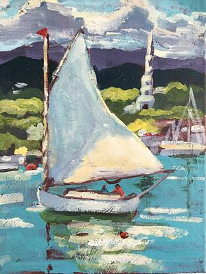 Painting - Sailing On A Sunday Afternoon by Susan Elizabeth Jones