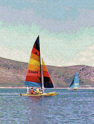Sailing On A Utah Lake Art Print by Steve Ohlsen