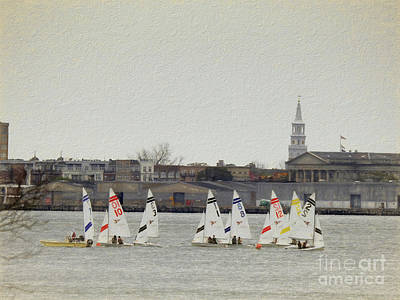 Photograph - Sailing On Charleston Harbor by Scott Cameron