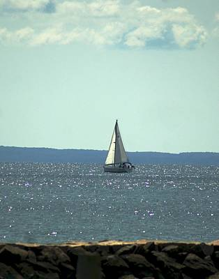 Photograph - Sailing On Crystal Sound by Margie Avellino